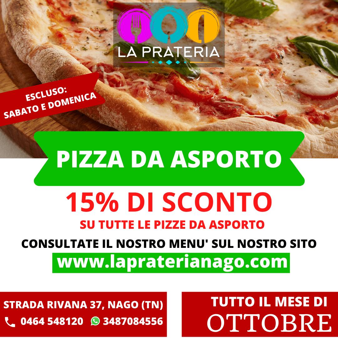 sconto sulle pizze Ristorante pizzeria La Prateria, Nago-torbole
