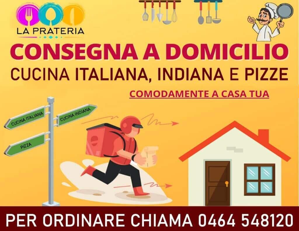 CONSEGNA A DOMICILIO pizza, cucina italiana e india lago di garda