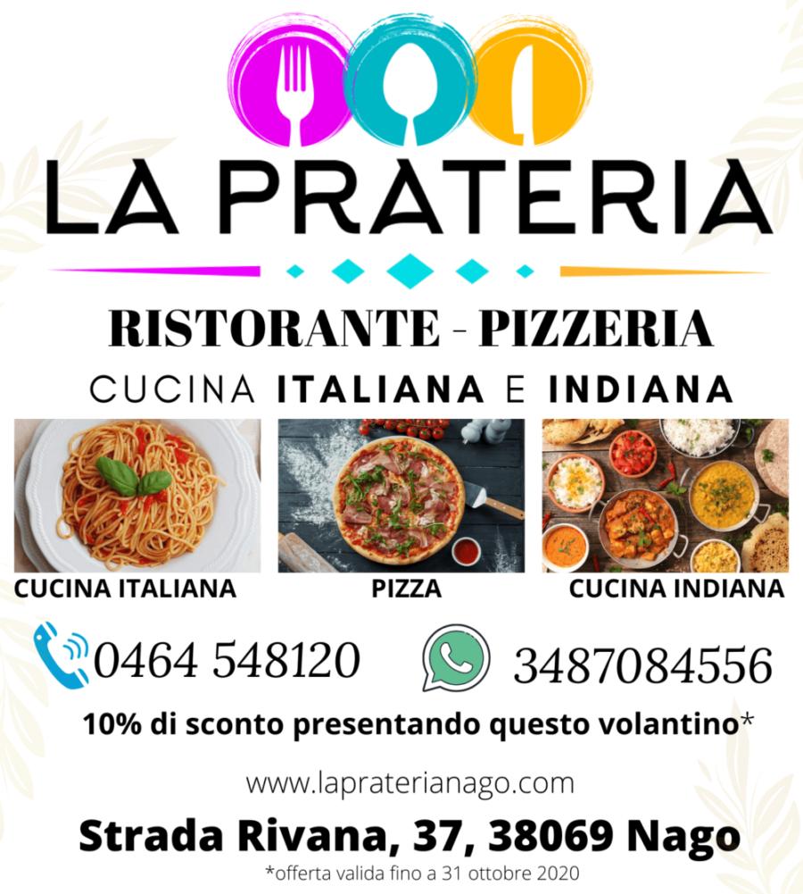 10% di sconto per tutto il mese di Ottobre Ristorante pizzeria La Prateria, Nago-torbole