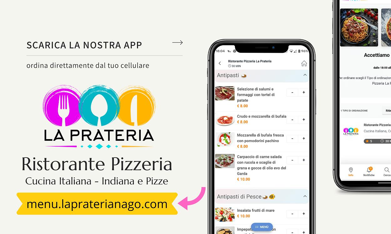 Ristorante Pizzeria La Prateria Scarica la nostra APP