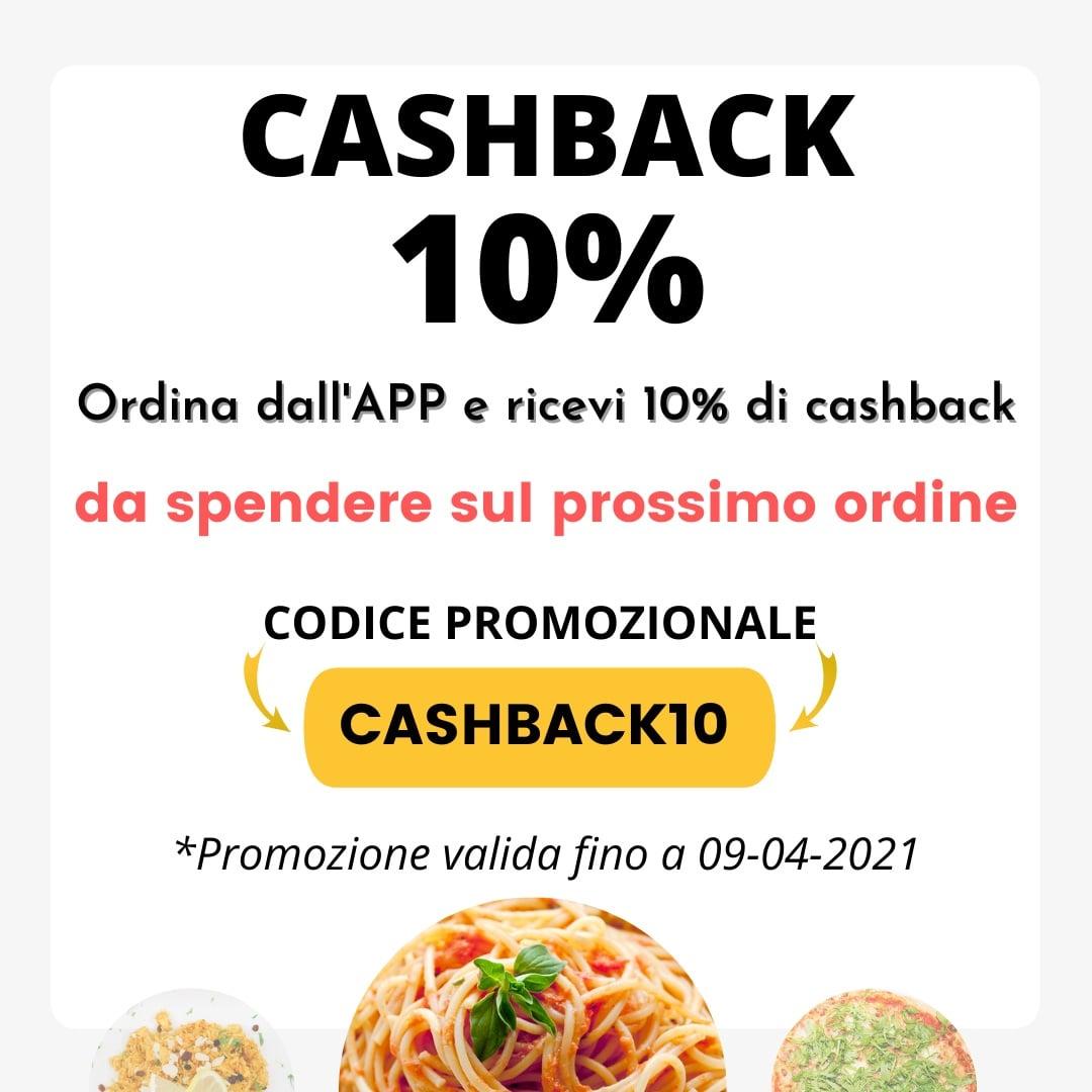 Cashback del 10% per gli ordini dall'APP La Prateria