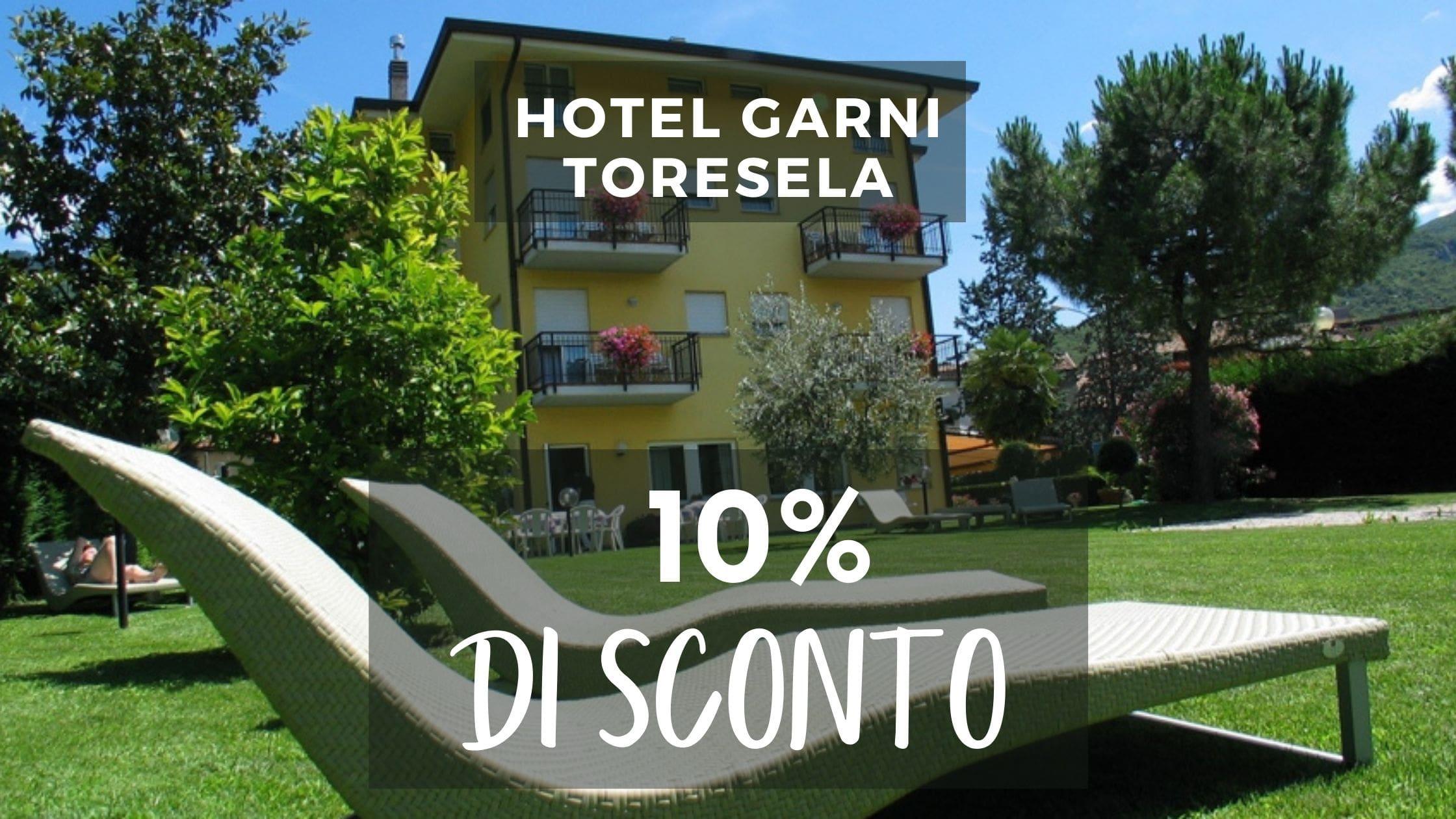 10% di sconto per i clienti dle Hotel Garni Toresela